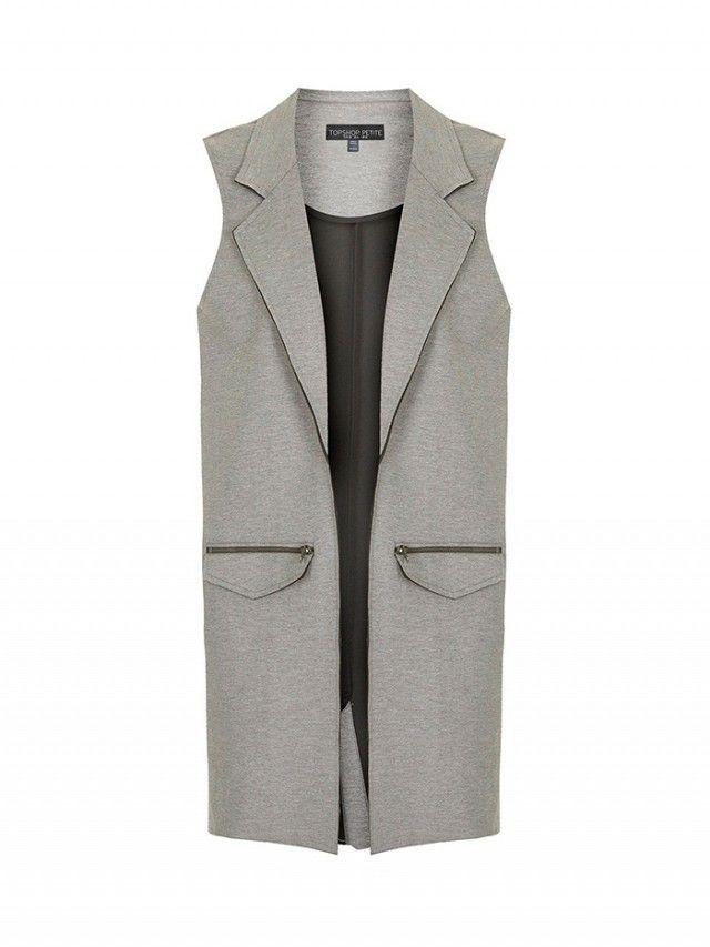 Topshop Petite Sleeveless Jacket