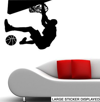 #Basketball #player slam dunk silhouette wall art #vinyl stickers murals decals ,  View more on the LINK: http://www.zeppy.io/product/gb/2/281916732301/