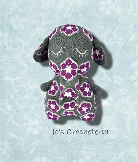 ♥ Crochet Pattern - Peggy the African Flower Elephant ♥