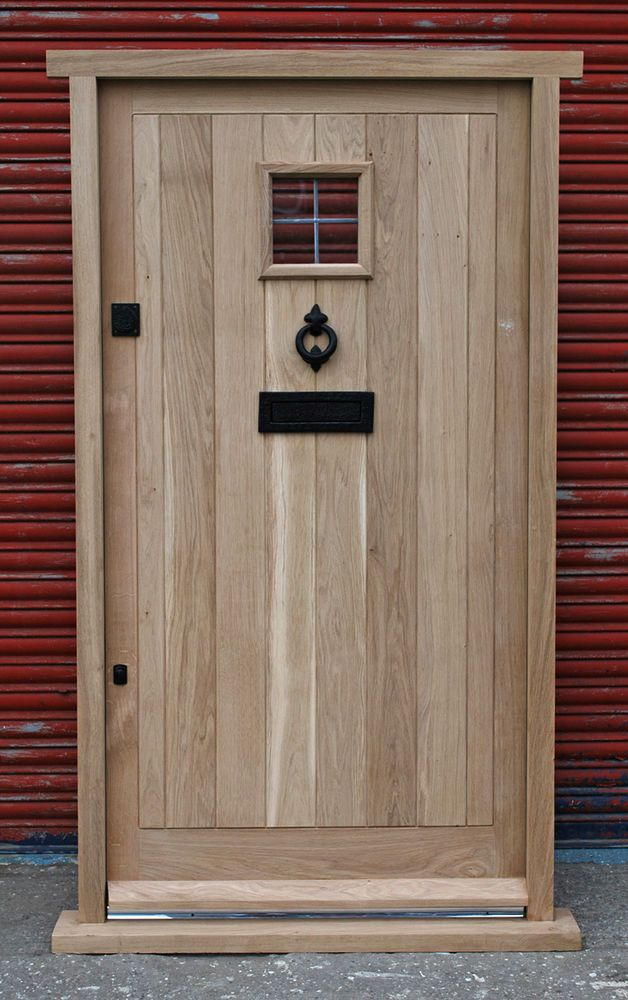 Solid Oak Front Door, Cottage Style!!! Made to measure!!! Bespoke!!!