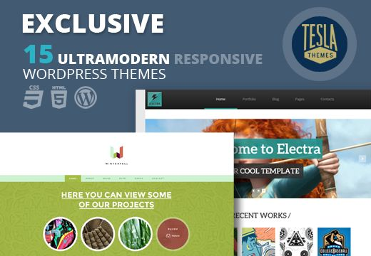 15 Premium WordPress Themes: With Clean, Modern design and a complete set of advanced features. Use these templates to represent you blog, portfolio, agency, magazine, business or any other related website.