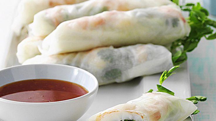 Fresh prawn spring rolls recipe - 9Kitchen