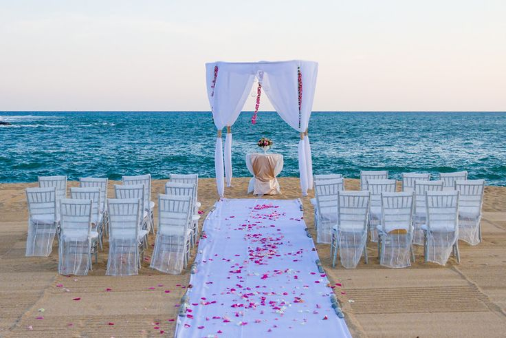The beach is great for a private ceremony #SecretsHuatulco