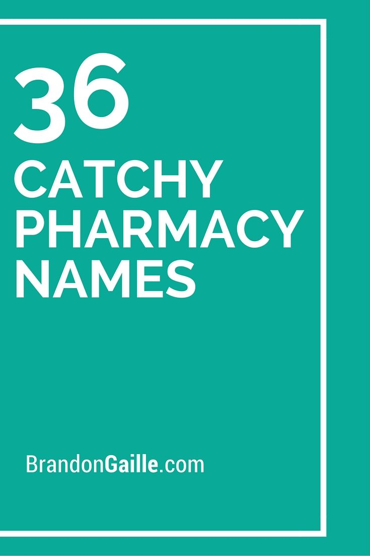 list of 36 catchy pharmacy names