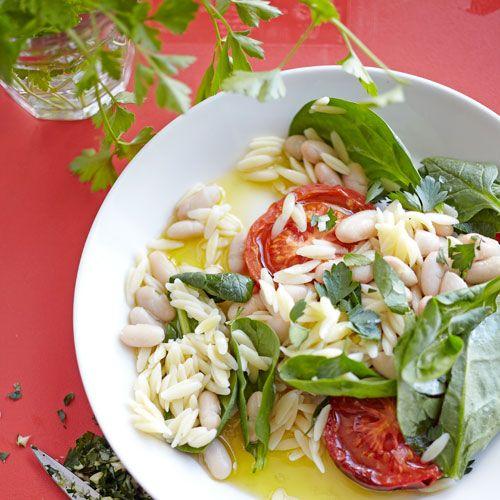 Orzo, cannellinibonen & spinazie
