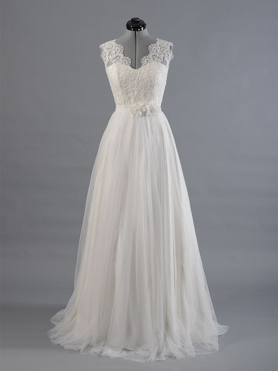 Lace wedding dress wedding dress bridal gown by ELDesignStudio