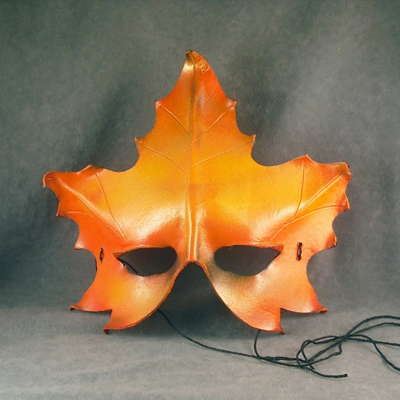 OOaK Autumn Leaf Mask Oddfae by Schiller by oddfae on Etsy, $60.00: Masks Oddfa, Clay Ideas, Clay Inspiration, Autumn Leaves, Odd Things, Leaf Masks, Fimo Klei, Etsy Friends, Autumn Leaf