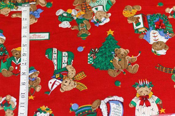 Christmas Fabric Merry Christmas Christmas Quilt Happy