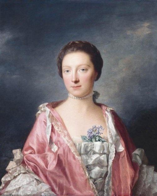 Allan Ramsay (1713-1784) - Portrait of Elisabeth Gunning, Duchess of Argyll. The Paintrist Files
