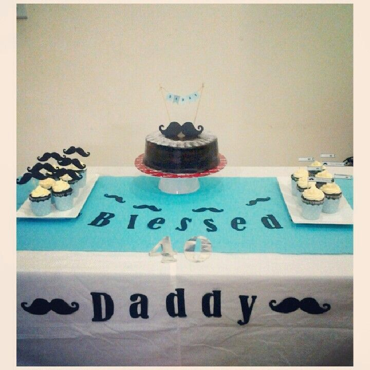 Mustache themed birthday