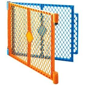 North States Superyard Colorplay 2 Panel Extension Kit, Orange/Blue