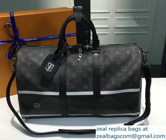 Louis Vuitton Keepall 45 Bandouliere Monogram Elipse Coated Canvas M43413 2017