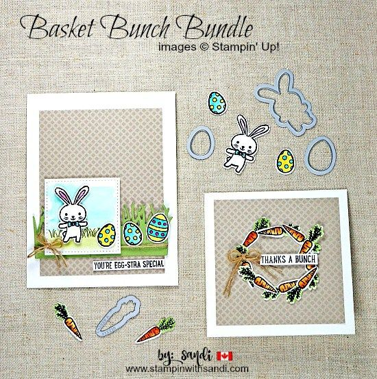 Basket Bunch Bundle from Stampin Up projects by Sandi @ stampinwithsandi.com