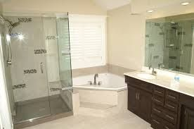 Corner tub bathroom layout