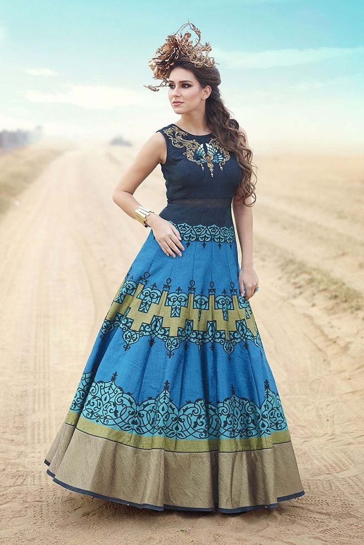 Shop Fabfirki New Fashionable Blue Designer Anarkali Suit by Fabfirki online. Largest collection of Latest Anarkalis online. ✻ 100% Genuine Products ✻ Easy Returns ✻ Timely Delivery