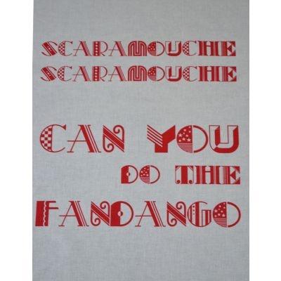 Scaramouche Fandango Red Singsong Crafty Panel