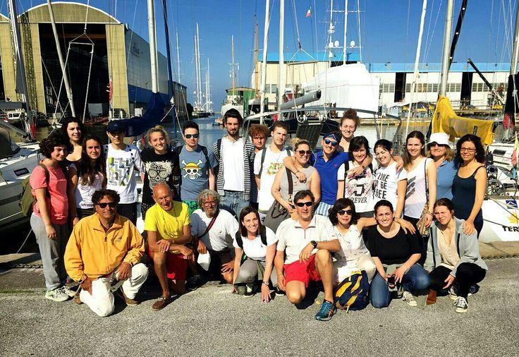 7.6.16 Lezione di vela per gli allievi del Liceo artistico Stagi di Pietrasanta!