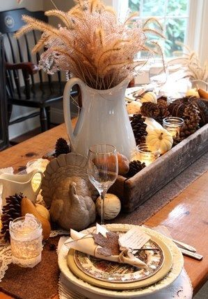 Rustic additions from your yard you can add to your holiday table.