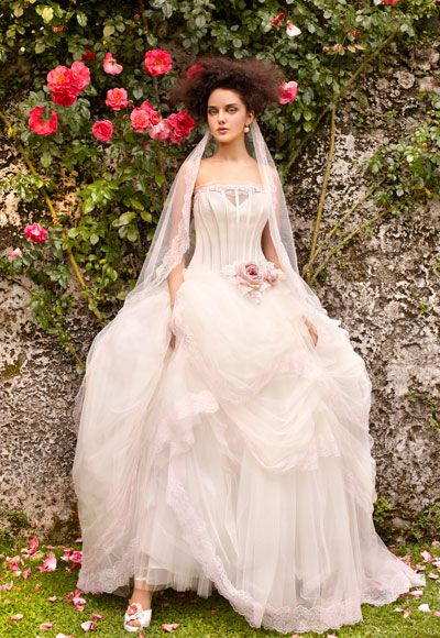 Villa Carlotta - Romantic Bridal Wedding Dress Collection: Weddingdress, Full Skirts, Wedding Dressses, Ball Gowns Wedding, Tulle Ball Gowns, Straight Neckline, Strapless Straight, Wedding Dresses Tulle, Ballgown