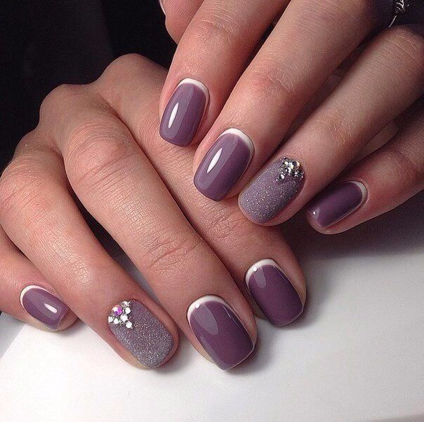 Autumn nails, Beautiful winter nails, Business nails, Ideas of gentle nails, Ideas of lilac nails, Nails for autumn dress, Nails for business lady, ring finger nails