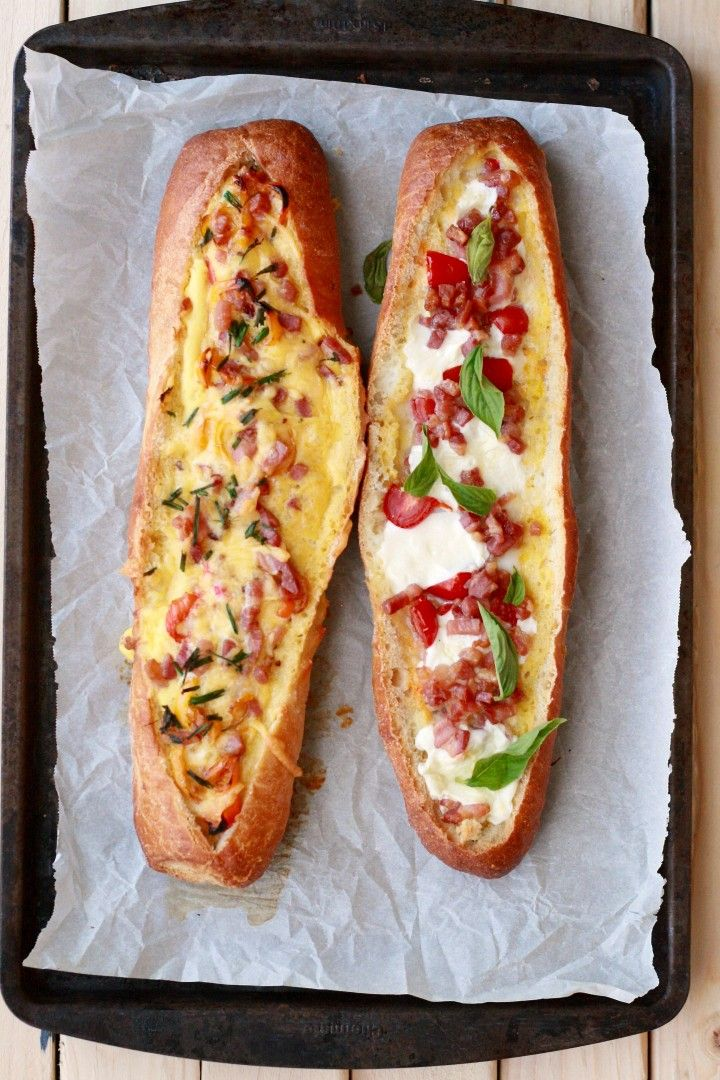 Delicious filled with eggs, the meats and veggies of your choice and cheeses.  Garnish with tasty basil and chives.  A meal in one but great with a salad or soup.