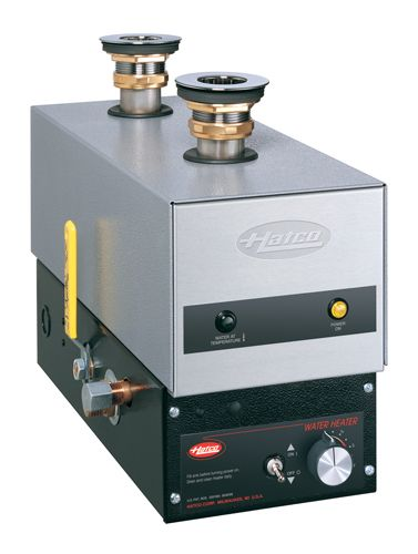 """Hatco Food Rethermalizer/Bain-Marie Heaters (model shown: FR-6) mount easily to the underside of a holding vessel, leaving the entire vessel area free. Water is continually circulated to avoid any """"cool"""" spots. The unit controls water temperature from 140°F to 190°F (60°C to 88°C). Series FR available in all Hatco regions. Click to learn more."""