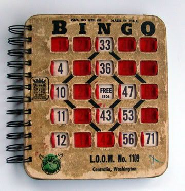 Altered Bingo Book for Local-ish Adventures - PAPER CRAFTS, SCRAPBOOKING & ATCs (ARTIST TRADING CARDS)