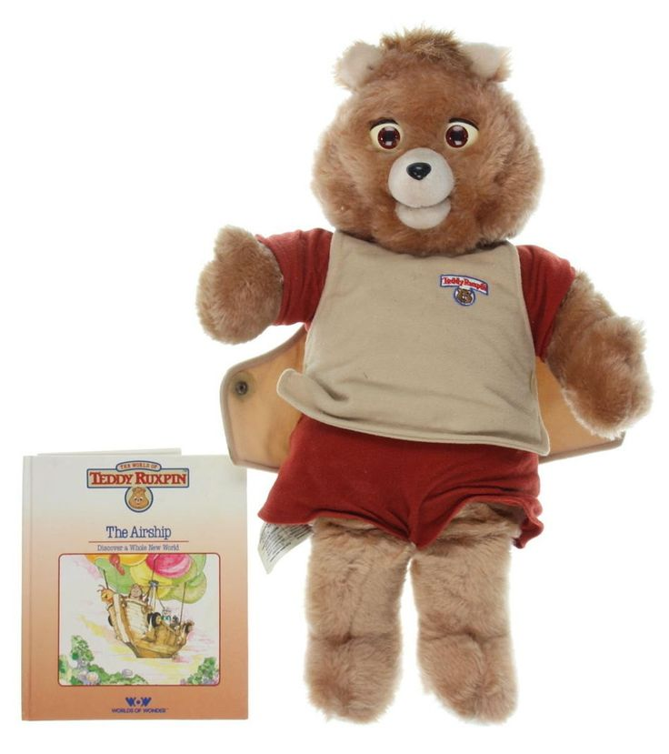 Vintage Large Teddy Ruxpin Bear , 1985 Alchemy II World of Wonder Talking Teddy Bear Toy, Comes with 1 Tape and Book - The Airship by VintageFlicker on Etsy