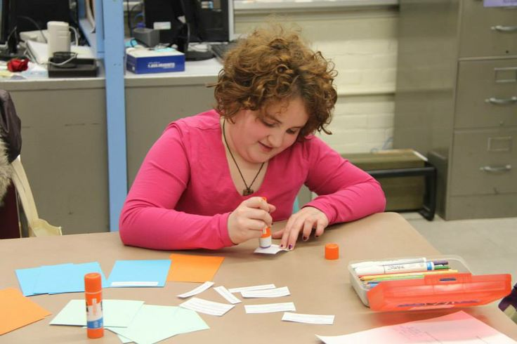 Zohar works on making her own Shakespeare sonnet trading cards. -2014 #Shakespeare #Sonnets #ValentinesDay #Fundraiser #Toronto #Education #Gift