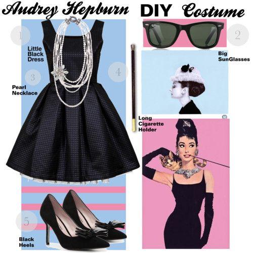 audrey hepburn diy costume halloween pinterest diy. Black Bedroom Furniture Sets. Home Design Ideas