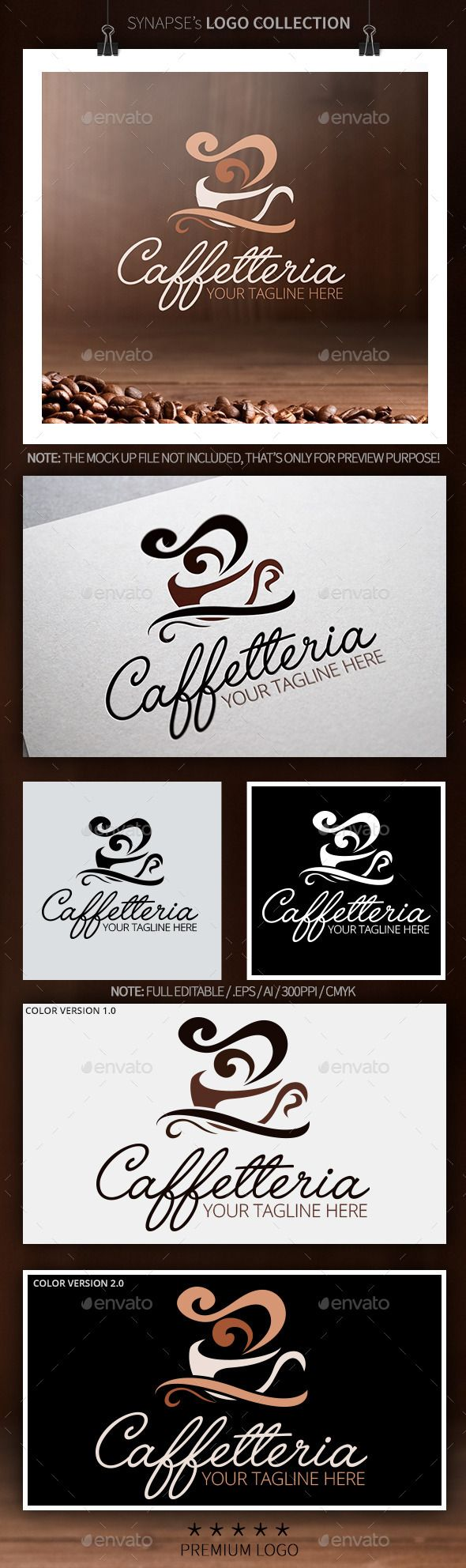 Caffetteria / Coffee Logo Design — Vector EPS #solutions #unique • Available here → https://graphicriver.net/item/caffetteria-coffee-logo-design/10108911?ref=pxcr