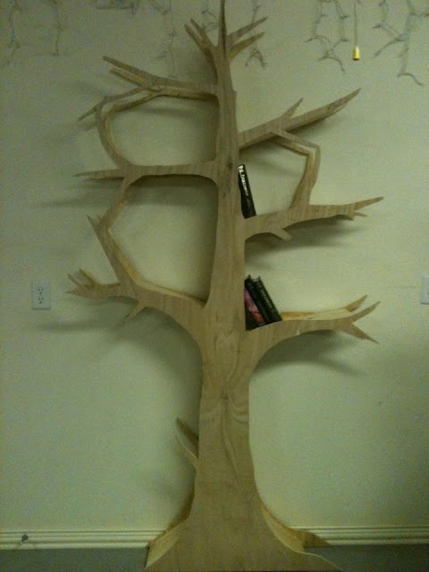 How to make one of those cute tree bookshelves without the 800 dollar price tag!