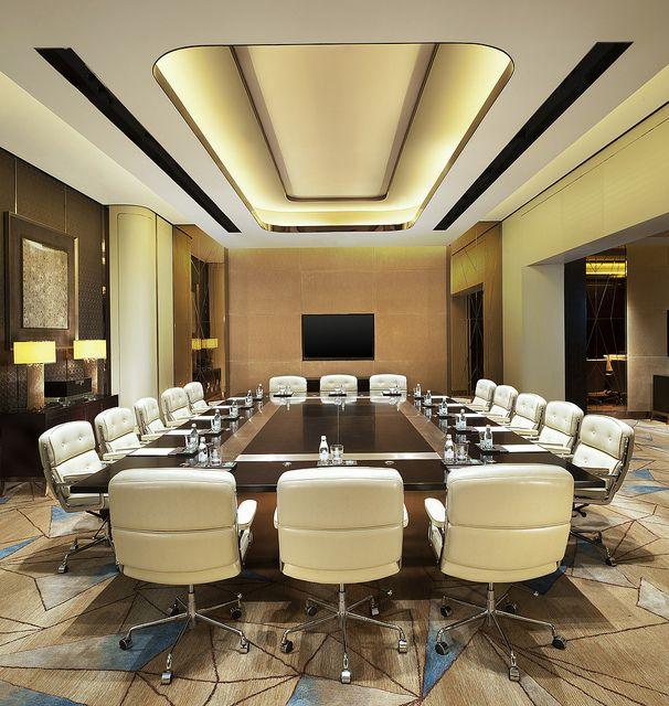 The St. Regis Shenzhen—Meeting Boardroom by St. Regis Hotels and Resorts #hotelinteriordesigns