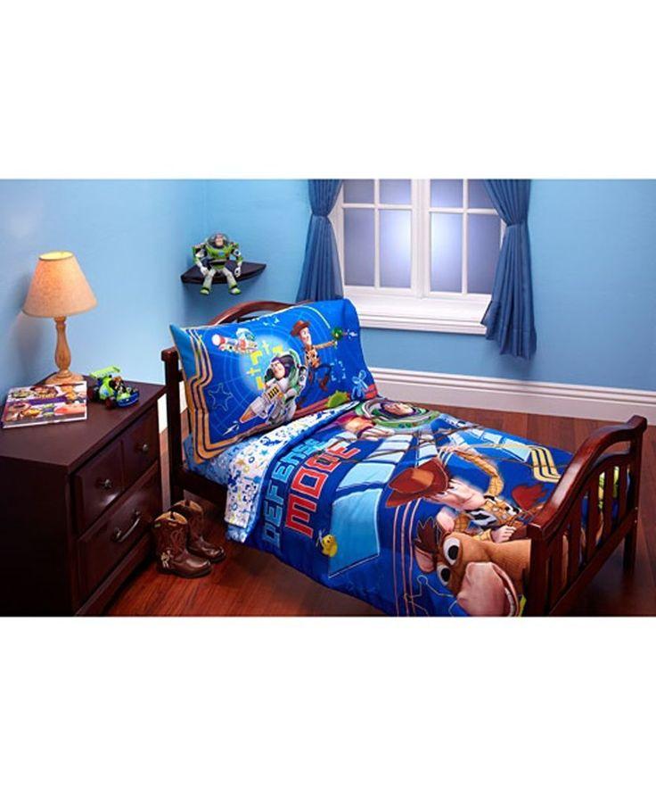 Disney Toy Story Defense Mode 4 Piece Toddler Bedding Set | eBay