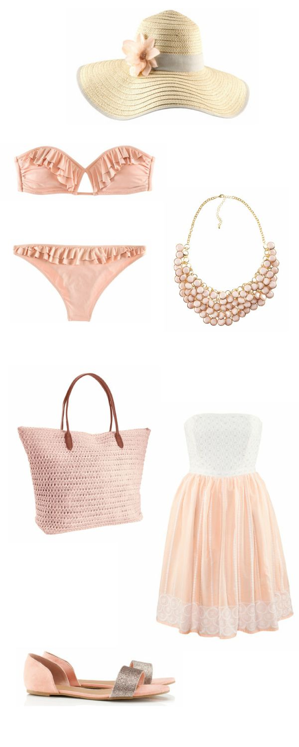 Cute Beach Outfit! Every thing except the necklace, why would you wear a necklace to the beach!