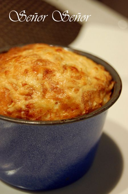 Soufflé de queso y beicon paso a paso