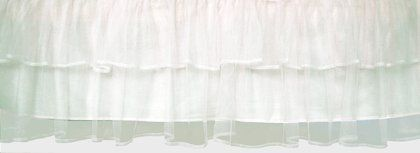 Crib Skirt? Can match with all sorts of fun sheet patterns.