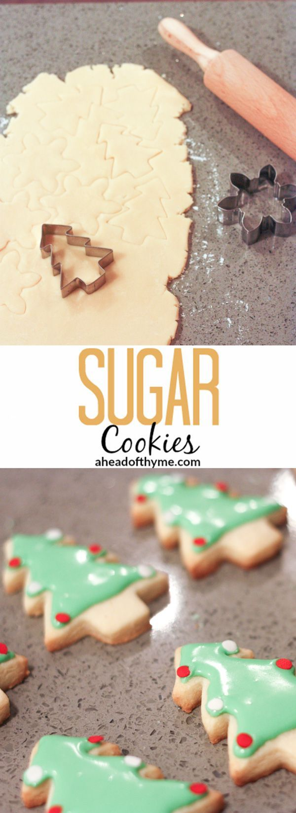 Sugar Cookies: It's that time of year again and one of my favourite holiday traditions is baking and decorating sugar cookies for my friends and family | aheadofthyme.com