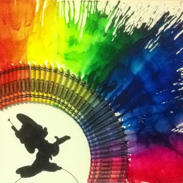 Shoot! I already did crayon art like this but I'm thinking it's time to switch things up!