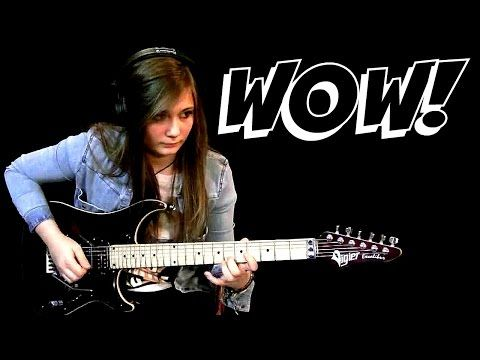 Dragon Force - Through the Fire and Flames - Tina S Cover Guitar Prodigy - YouTube