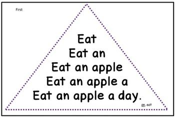 Fluency Triangles for Dolch First Grade Sight Words {Readi
