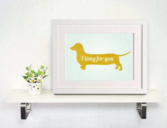 Dachshund inspiration quote typography print wall art poster 11x17 on Etsy, $16.00
