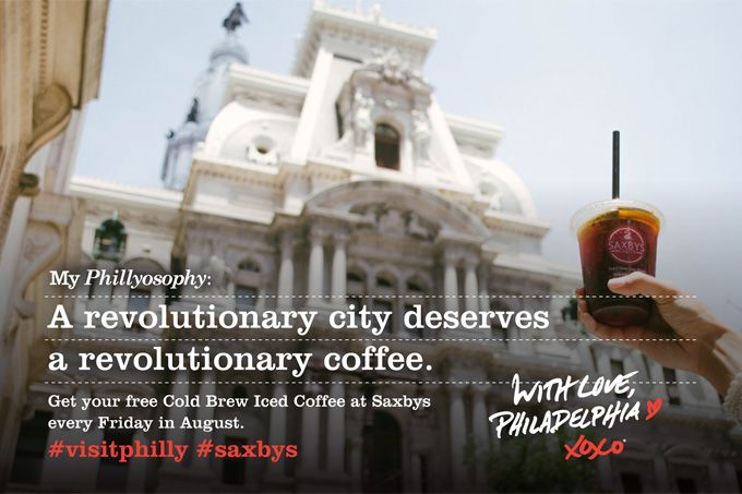 Deal Alert: Cool Off With Free Cold Brew Iced Coffee From Saxbys Coffee And Visit Philadelphia Every Friday This August