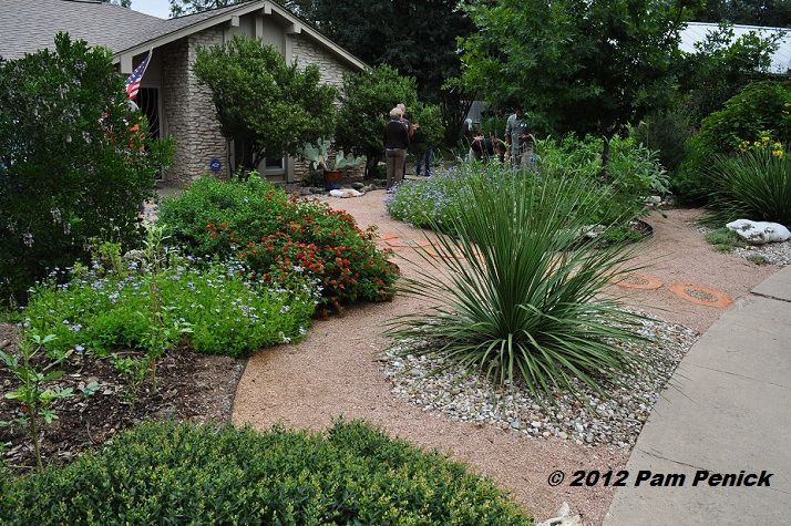 No Lawn Front Garden With Xeriscape Plants Patio Seating Yard Pinterest