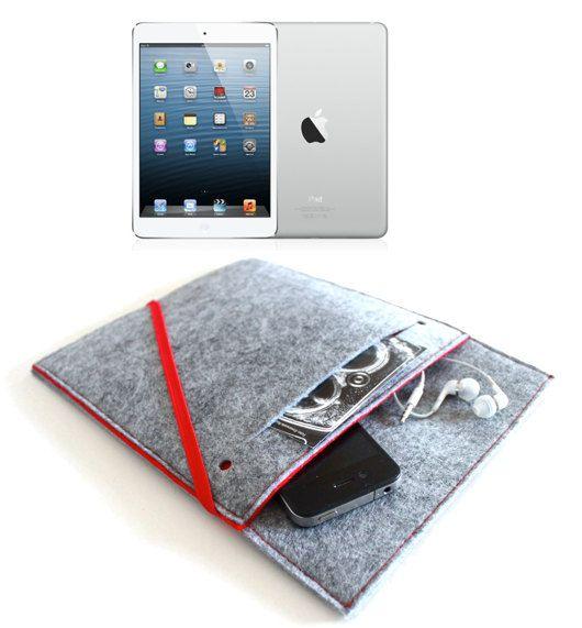 iPad Mini Sleeve/ Mini iPad iPad Case Cover Organizer/ New iPad sleeve/ iPad wallet - Felt Build your own via Etsy