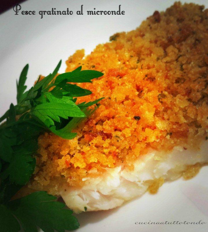 filetti di pesce gratinati al microonde