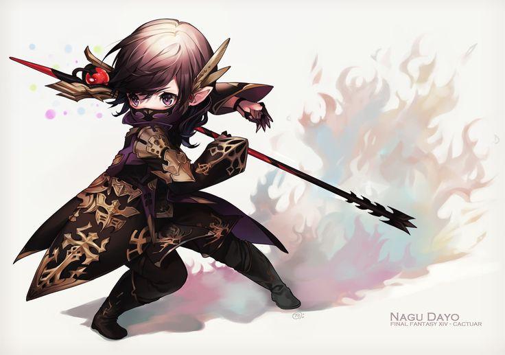 Special Creator Naguri drew this adorable illustration of FFXIV black mage!