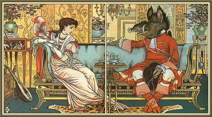 Walter Crane - The Beauty and the Beast