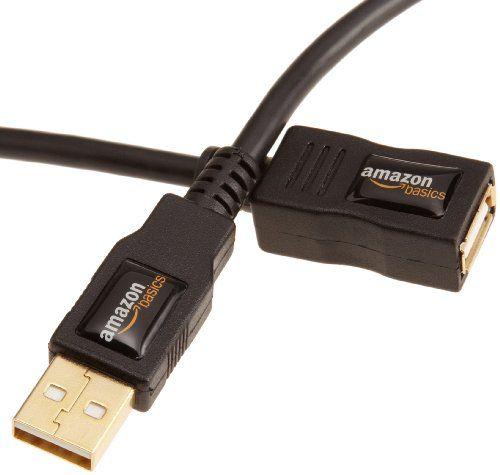 AmazonBasics Rallonge Câble USB 2.0 mâle A vers femelle 3 m