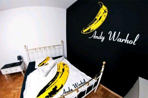 Мужская спальня в стиле Энди Уорхола